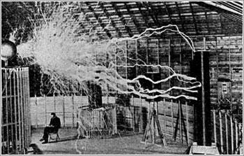 """Tesla lee """"tranquilamente"""", en su mar de electricidad fría"""