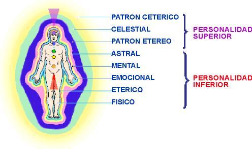 """Los diferentes """"cuerpos"""" de acuerdo a las medicinas orientales. El eterico, sería el responsable de la bioenergía corporal."""