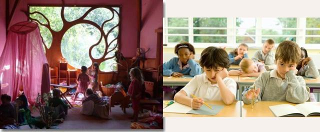 Pedagogía Waldorf o pedagogía convencional.