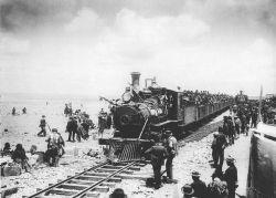 """La construcción del ferrocarril, ejemplo de modernidad y """"progreso""""."""