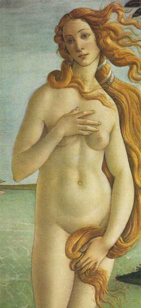 El Nacimiento de Venus de Sandro Botticelli. 1485.