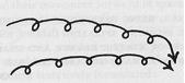 Dibujo de la superimposición de dos líneas orgónicas. Ref; Cosmic Superimposition pag 185.