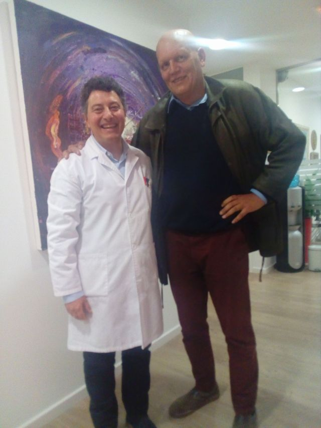 Con el doctor Manuel Gálvez.