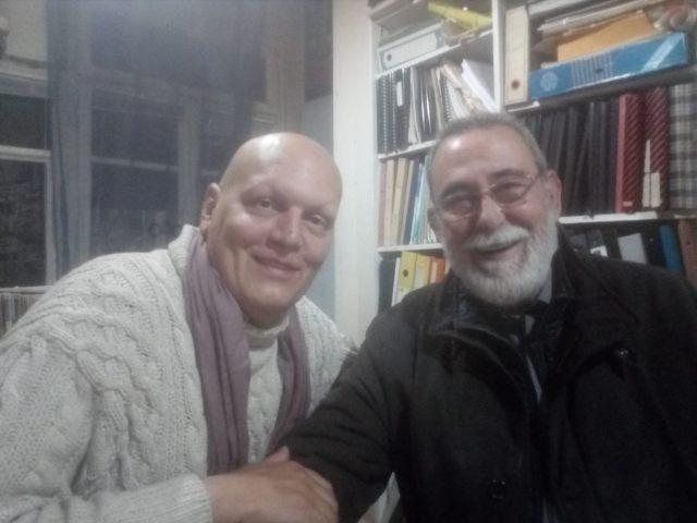 Con Máximo Sandín. Foto tomada el 26 de noviembre de 2017 en Plural 21.