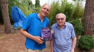 Con el maestro Borrás, este pasado agosto de 2018.